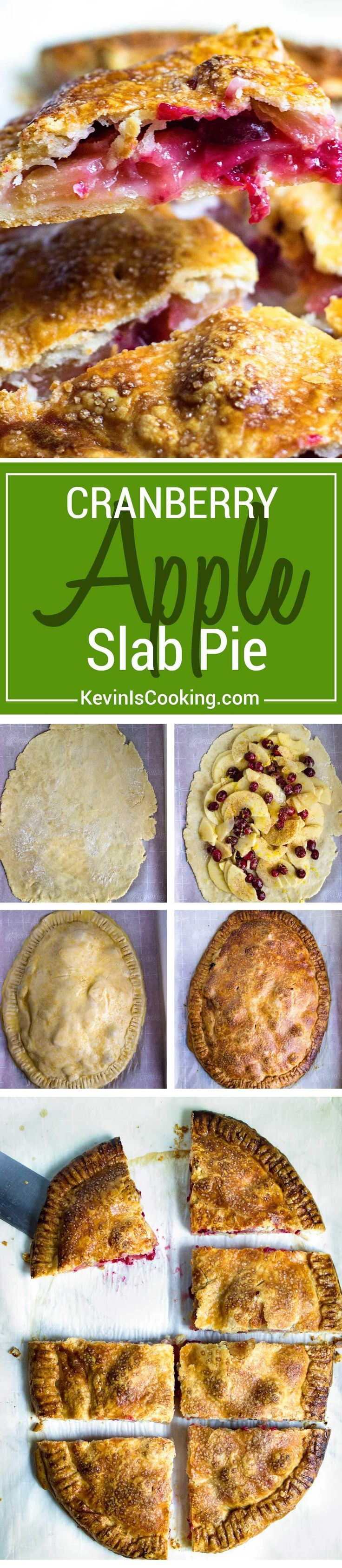 ... Cranberry Apple Slab Pie is great for the family, no pie pan required