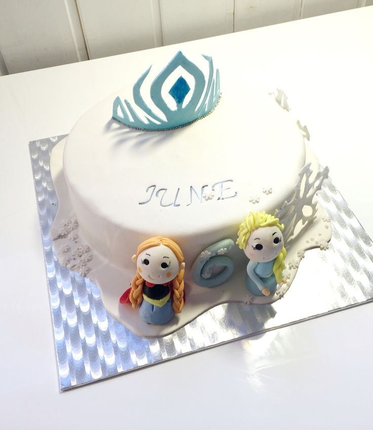 Frozen cake, Anna and Elsa ...