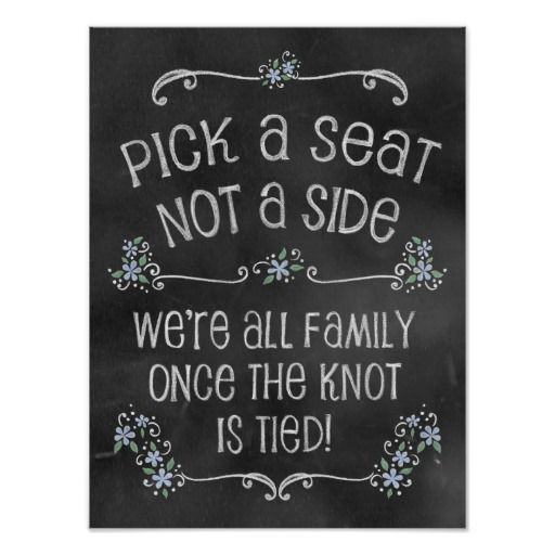 Charming Chalkboard Wedding Poster By Rockin Chalk Quot Pick