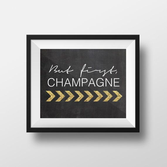 Champagne Bar Chalkboard Sign. This can be framed in your your home bar or for a party where there is a champagne bar!