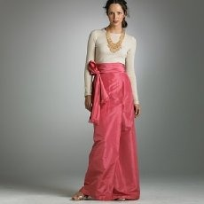 J Crew- Silk taffeta bow ball skirt - love the formal skirt with the informal t-shirt