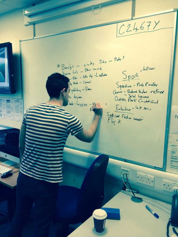 Our radio editor Adam Spencer-Hicken drafting the stories for our radio broadcast. http://buzz.bournemouth.ac.uk/