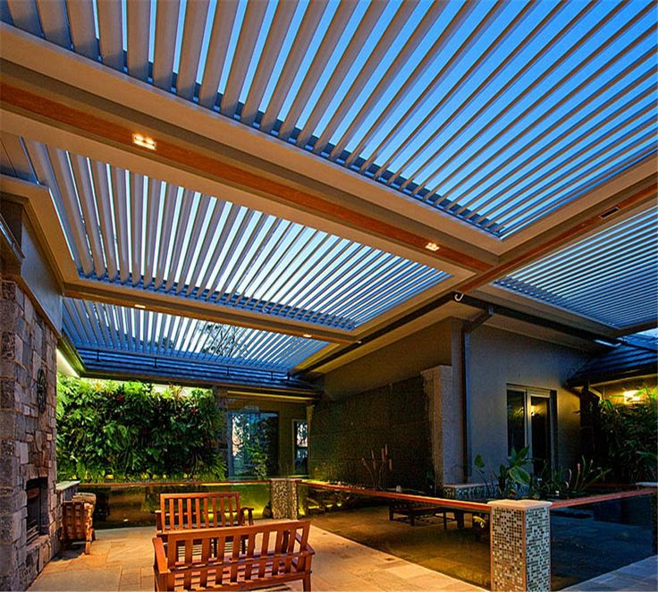 Fashion Waterproof Pergola Opening Roof Louver Louver