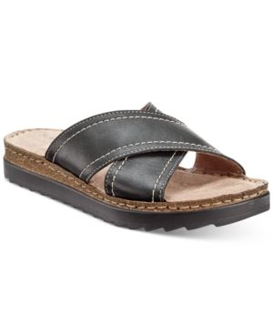 Bella Vita Fasano Slide-On Sandals - Black 8.5N