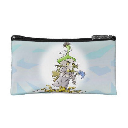 FRANKY BUTTER ALIEN Small Cosmetic  bag - #customizable create your own personalize diy