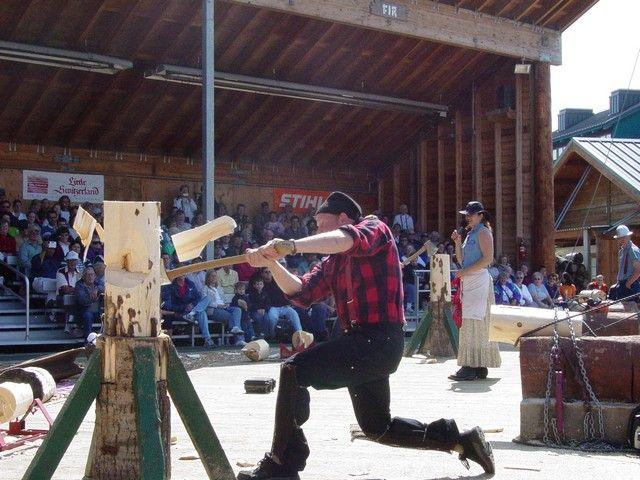 A lumberjack's life is the life for me. (Great Alaskan Lumberjack Show shore excursion - Ketchikan, AK)