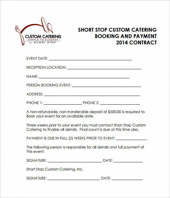 Reception Catering Contract Pdf Free Download Wedding Catering Near Me Contract Template Catering Services