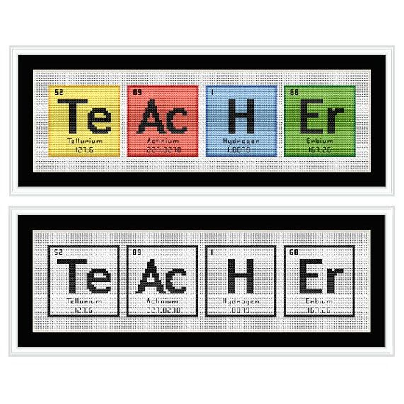 TEACHER Periodic Table Chemical Element Cross by HollysHobbiesUK