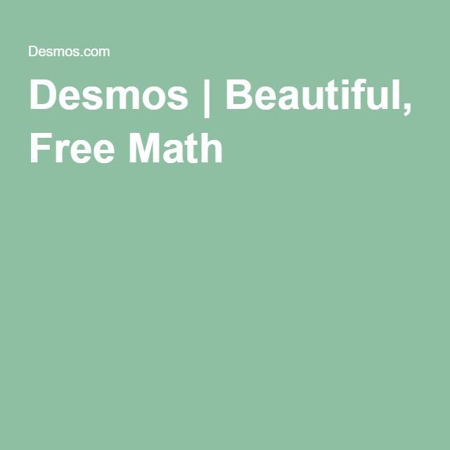 Desmos | Beautiful, Free Math