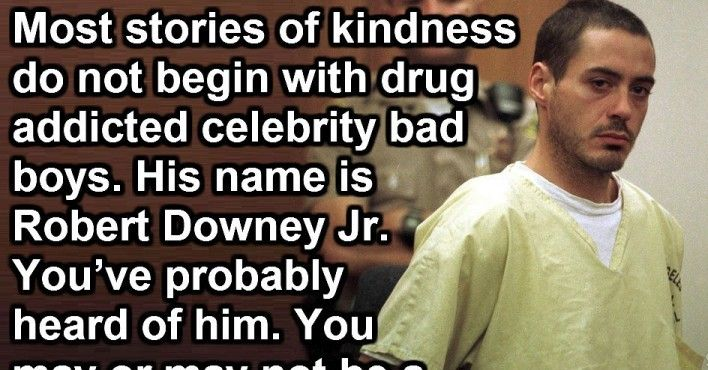 Robert Downey May Have Been A Drug Addict, But This Is Amazing.
