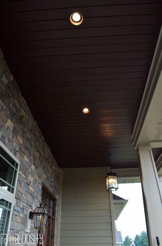 Home Tour Part 1- Brown Soffit Front Porch Ceiling The Exterior - Fantabulosity