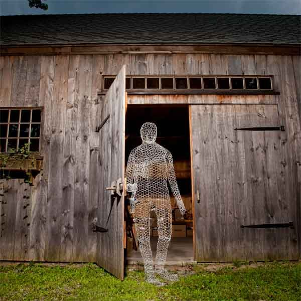 diy build a wire ghost outdoor halloween decorations chicken wire and glow in the dark paint - Outdoor Halloween Decorations On Sale