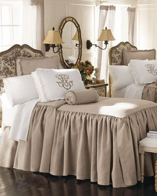 monogrammed pillows with my favorite bedspreads