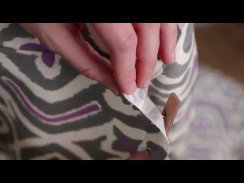 Furniture Reupholstery: The Tricks You Have to Know - YouTube ~ LOVE the cardboard strip trick