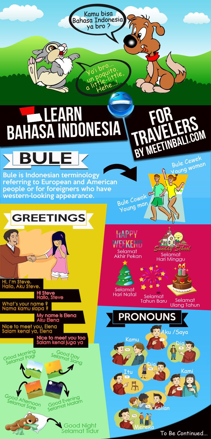 Learn Bahasa Indonesia Online For Travelers. I created this thread for those who want to learn #Bahasa #Indonesia. Feel free to participate. The forum link is here http://meetinbali.com/threads/learn-bahasa-indonesia-online-for-travelers.6