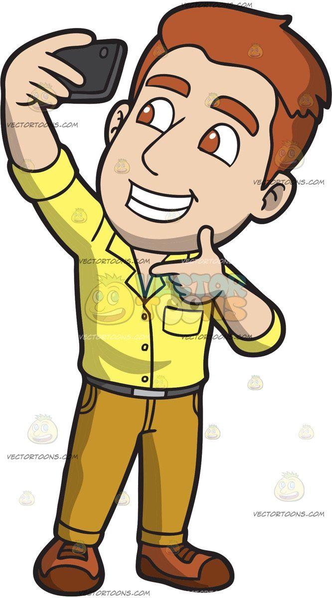 A Charming Guy Taking A Selfie Mustard Yellow Pants Yellow Pants Yellow Shirt Dress