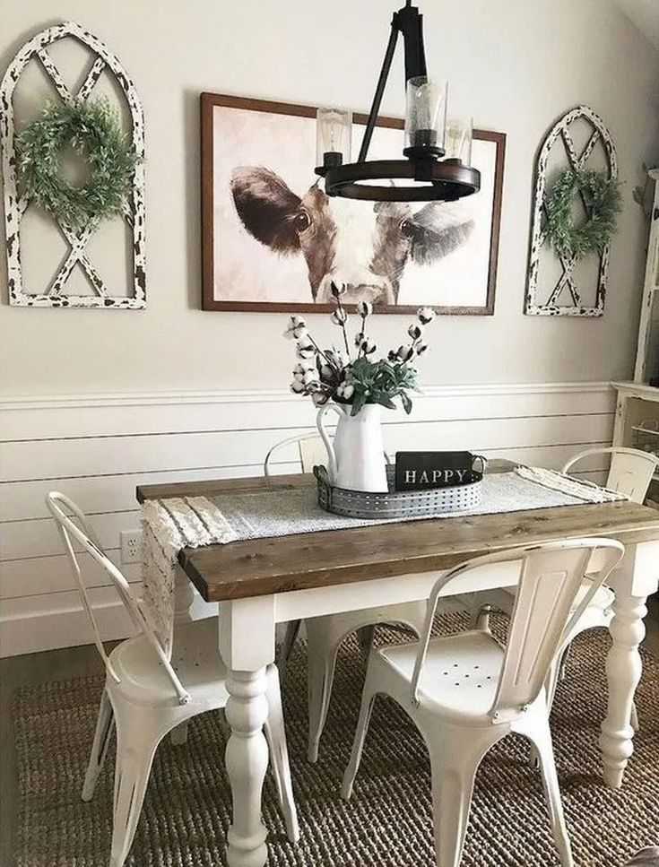 To Create The Rustic Look Most Farmhouse Dining Rooms Incorporate