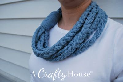 no knit spring braided cowl