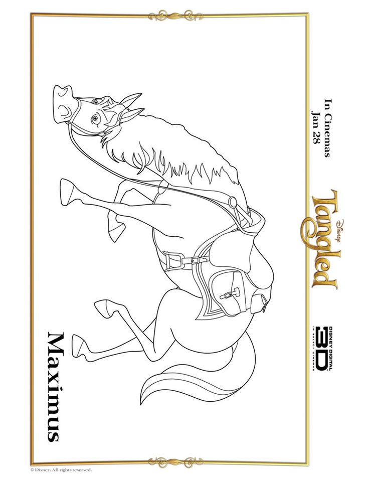 Tangled coloring pages and games