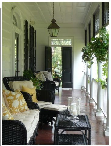 What a great place to sit and cool off in the summer....great southern porch