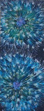 Quilted silk batik and stamens. NICOLA HAIGH