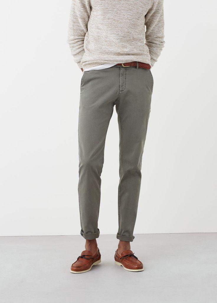 Chino slim-fit garment-dyed | MANGO MAN