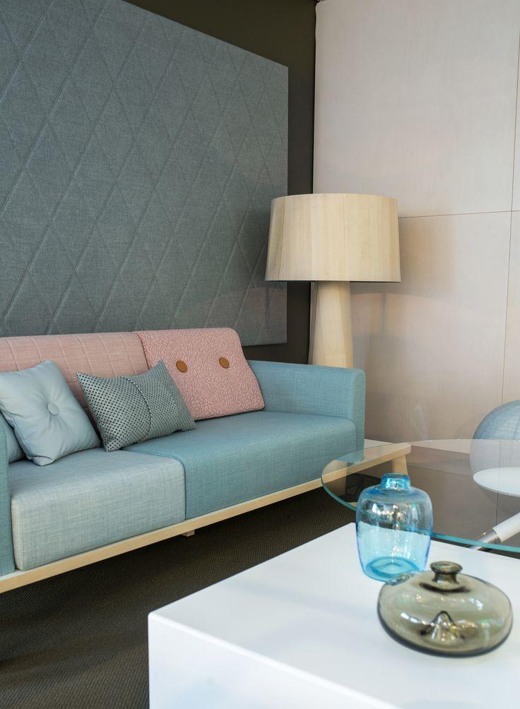 Couture sofa plus sideboard, design: Marie Oscarsson   Monolog table, design: Sandin & Bülow