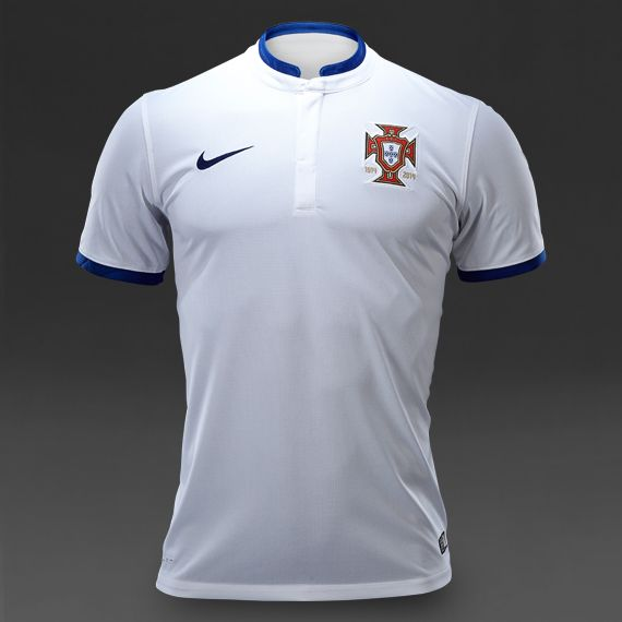 Nike Portugal SS Away Stadium Shirt - White/Blue