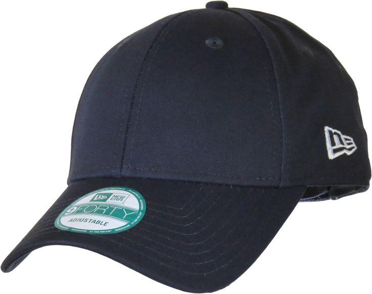 New Era 9Forty League Basic Baseball Cap. Navy Blue, with New Era side logo, and Curved Visor. Adjustable rear Velcro strap. Size range - 54.9cm - 60.6cm (6+7/8