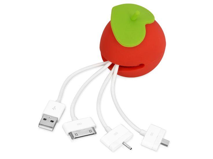 """USB-переходник """"Яблоко"""" USB-переходник с 4 различными разъемами (микро-USB, мини-USB, iPhone 4/4S) станет отличным приобретением для личного пользования и в качестве подарка. Яркий и стильный дизайн в виде яблока добавит изюминку вашему рабочему столу."""