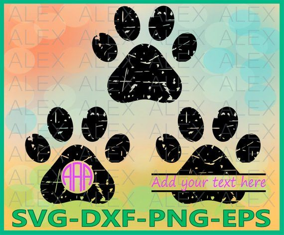 70 Off Paws Grunge Svg Dog Svg Cricut Files Dog Paws Svg Files Dxf Png Eps File Paws Monogram Svg Paws Sp Animal Crafts Paw Print Scrapbooking Projects