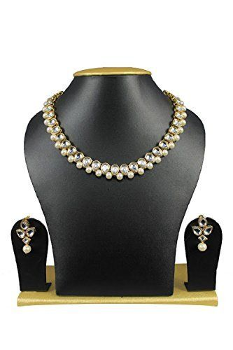Party Wear Indian Bollywood Kundan White Pearl Women & Girls Necklace Set Exclusive Jewellery, http://www.amazon.com/dp/B06XX92XK9/ref=cm_sw_r_pi_dp_x_TQVCzbTFPBVTB