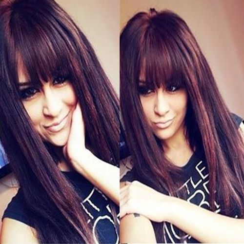 Dark Cherry Cola Brown Hair With Red Highlights African ...
