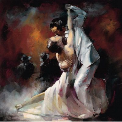 """""""Do not leave me,  hide in my heart like a secret,  wind around my head like a turban.  """"I come and go as I please,""""  you say, """"swift as a heartbeat.""""  You can tease me as much as you like  but never leave me.""""   ― Rumi;    """"Argentino Tango I"""" by William Haenraets"""