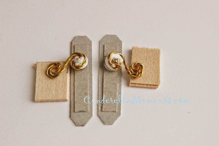 Cinderella Moments: Easy Dollhouse Miniature Door Knob / Lever Tutorial