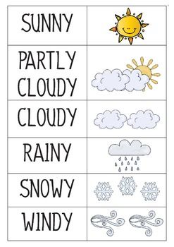 Weather Classroom Calendar Pre-K and Kindergarten