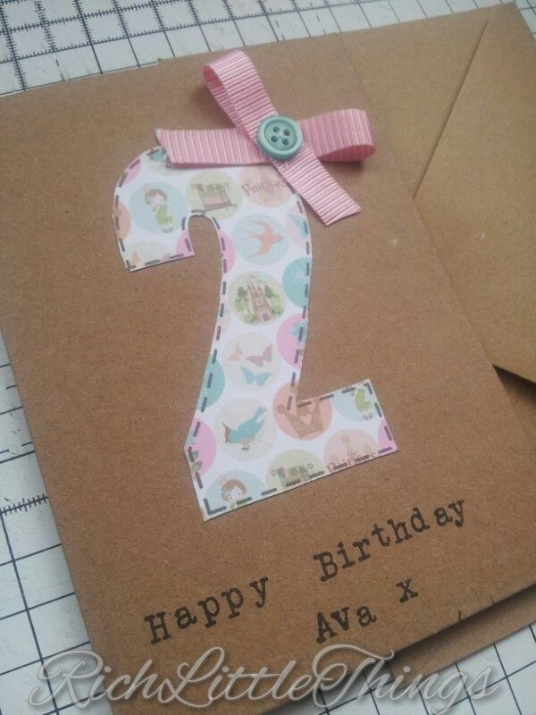 Childrens Birthday 'Age' Card  £3.00