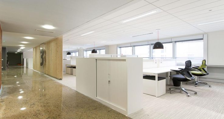 Open space and circulation into the premises of TUI in Levallois-Perret, France