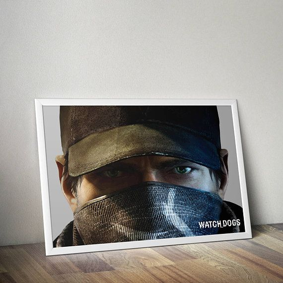 Watch Dogs Inspired Poster Print | Poster | Wall Art | Video Game Art | Video Game PosterGamer Gift, Boyfriend Gift