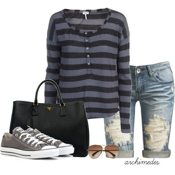 Saturday is Finally Here!, created by archimedes16 on PolyvoreFinal, Fashion, Casual Outfit, Style, Archimedes16, Comfy Casual, Saturday, Polyvore, Stripes Shirts And Jeans
