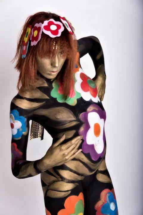 My body painting '70 style flower power ....photo by fabrizio biaggi ....