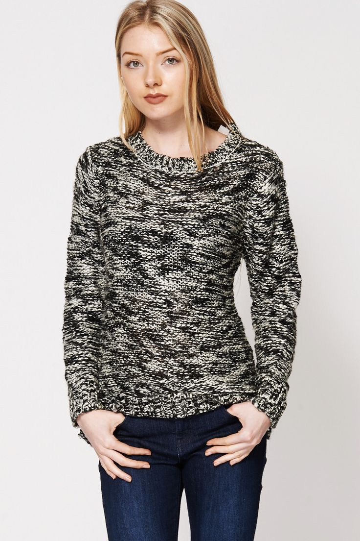 Two Tone Loose Knit Sweater