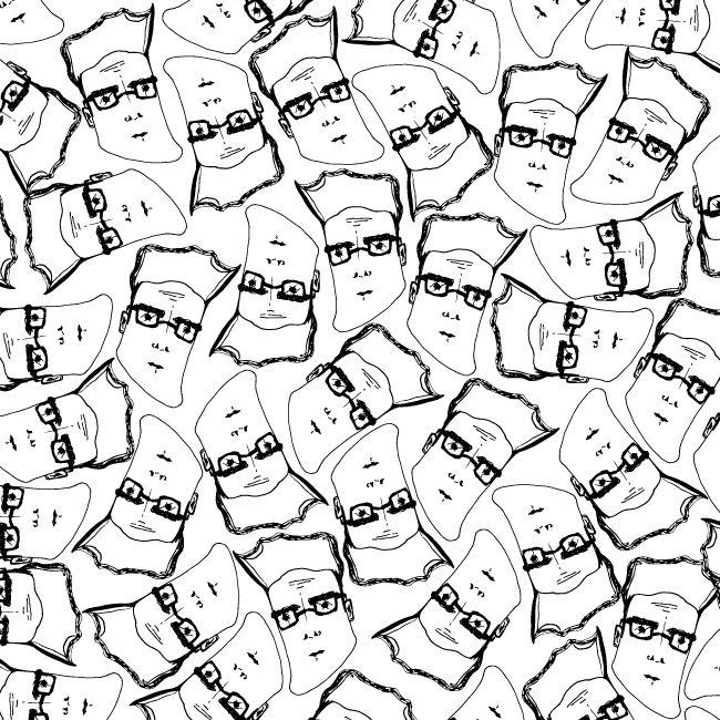 Steven PRINT. #mystupidsketchbook #pattern #wrappingpaper #print
