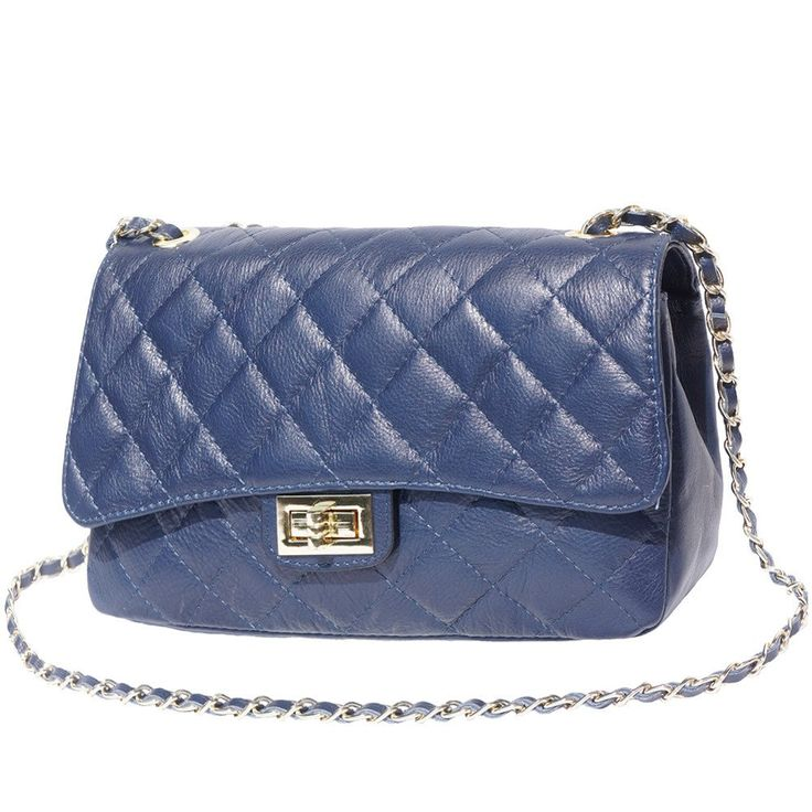 "QUILTED LEATHER BAG ""Be Exclusive"" WITH A BRAIDED LEATHER-CHAIN STRAP"