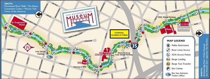 San Antonio Riverwalk Museum Reach Map I Want To Go To