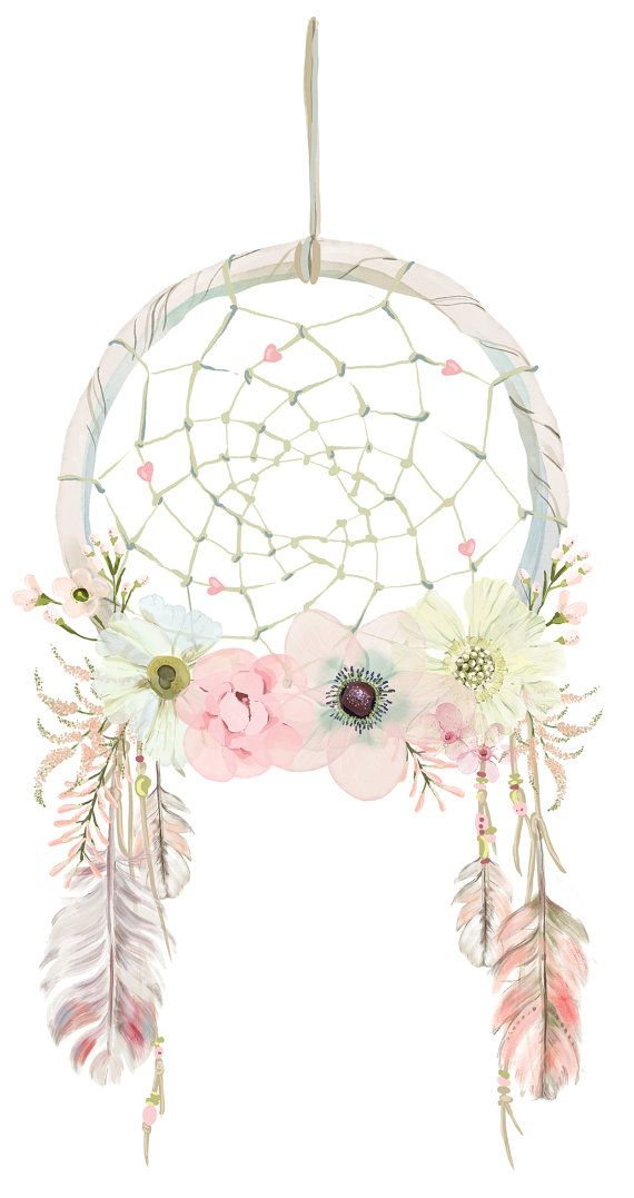 Large Boho Dreamcatcher Wall Decal by GingerMonkey0 on Etsy