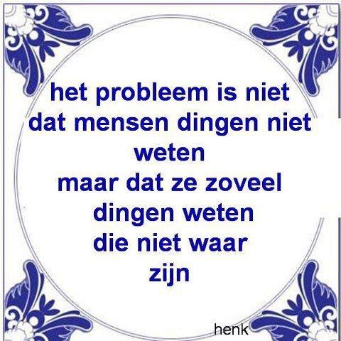Het probleem is niet dat mensen dingen niet weten, maar dat ze zoveel dingen weten die niet waar zijn.