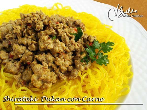 Fideos Shirataki con salsa de carne