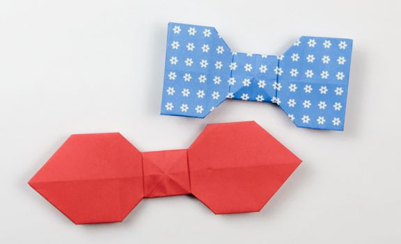 Make an Easy Origami Bow Tie