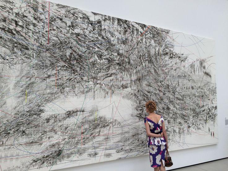 CAIRO, 2013 by JULIE MEHRETU at THE BROAD Museum - LOS ANGELES
